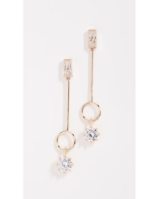 Eddie Borgo - Metallic Baguette Estate Line Earrings - Lyst