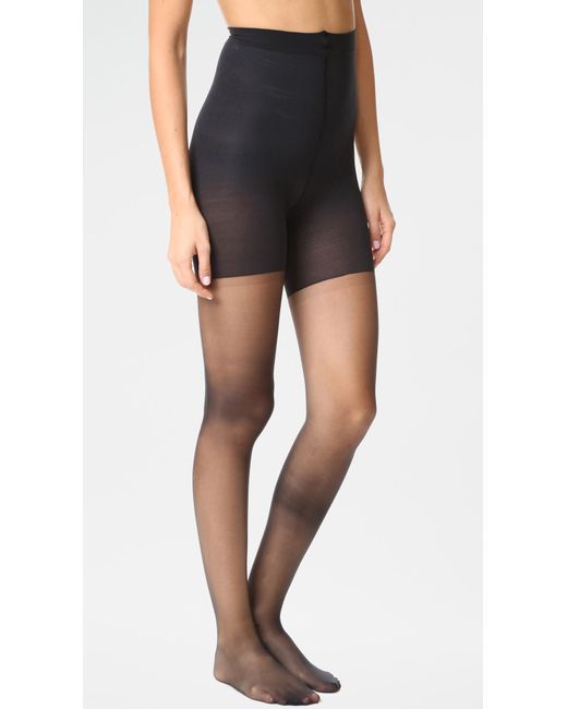 Spanx - Black Luxe Leg Sheer Tights - Lyst