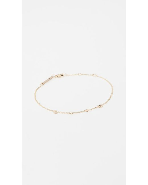 Zoe Chicco - Metallic 14k Gold & Diamond Love Bracelet - Lyst