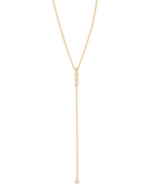 EF Collection - Metallic Diamond 5 Bezel Lariat Necklace - Lyst