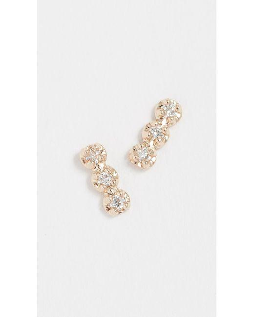 Blanca Monros Gomez - Metallic 14k Gold Louisa Stud Earrings - Lyst