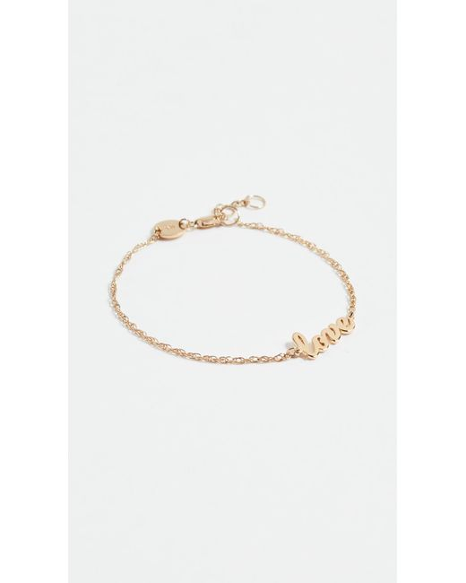 Jennifer Zeuner - Metallic Cursive Love Bracelet - Lyst