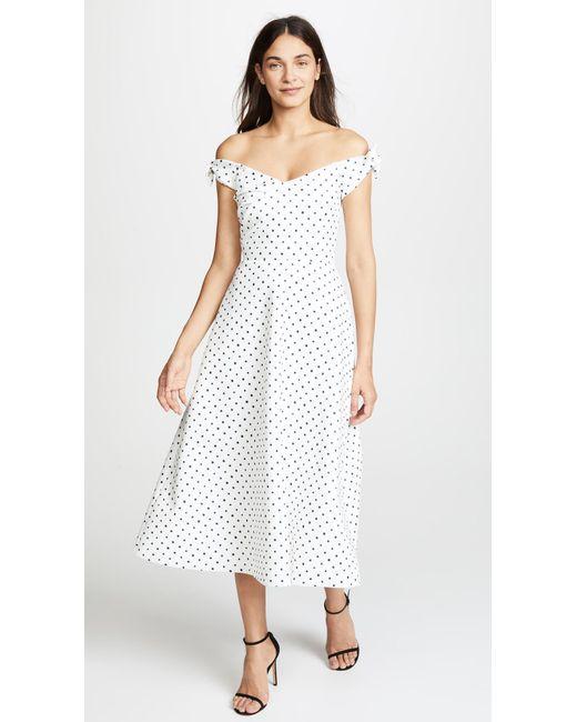 Saloni - White Ruth Dress - Lyst