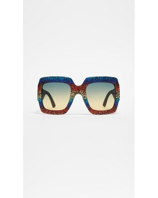 172cb2c710 Gucci - Multicolor Pop Glitter Iconic Oversized Square Sunglasses - Lyst ...