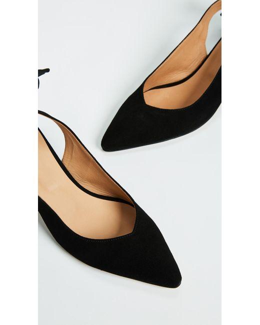 23eb9c8d001 ... Ganni - Black Bow Kitten Heels - Lyst ...