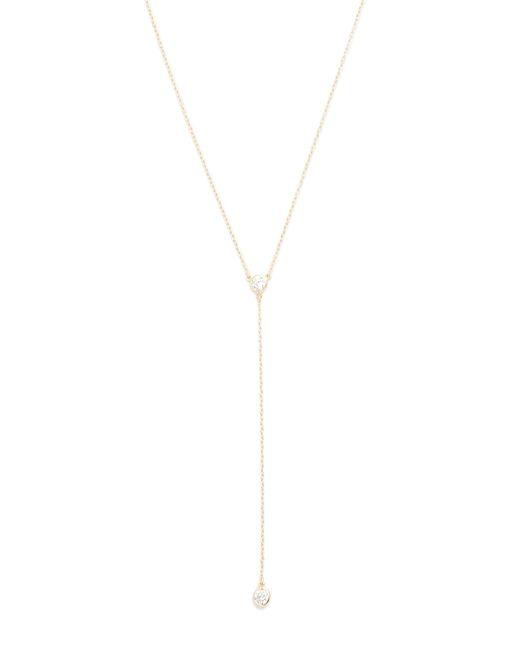 Shashi - Metallic Solitaire Lariat Necklace - Lyst