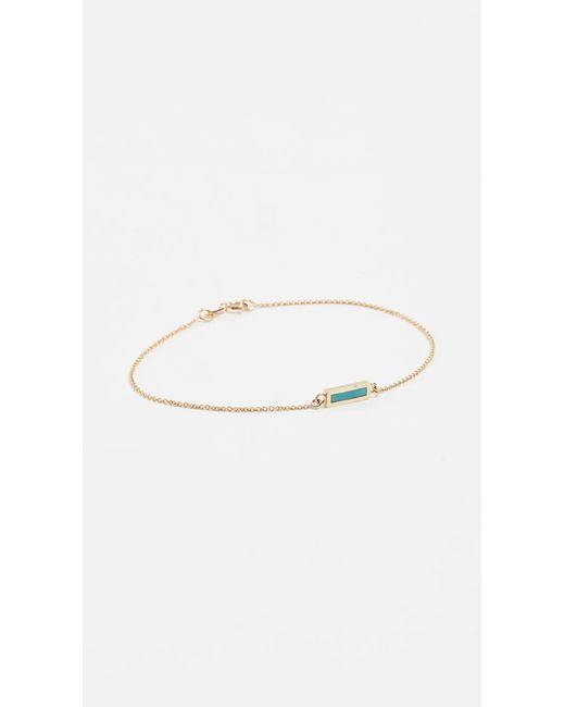 Jennifer Meyer - Metallic Inlay Short Bar Bracelet - Lyst