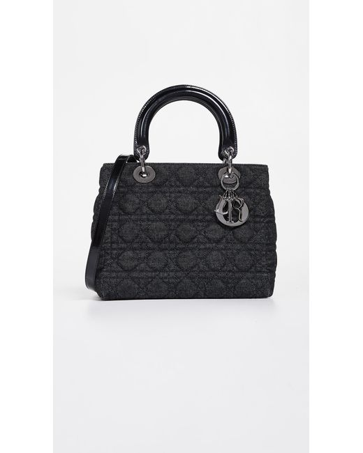 34820aa642d What Goes Around Comes Around - Black Dior Medium Lady Dior Bag - Lyst ...