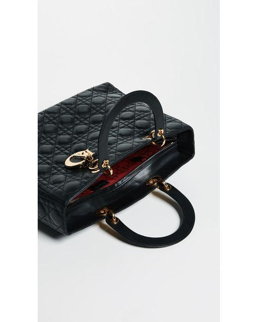 9291a7730ecc ... What Goes Around Comes Around - Black Dior Lady Dior Bag - Lyst ...