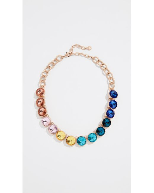 BaubleBar - Multicolor Crystal Strand Necklace - Lyst