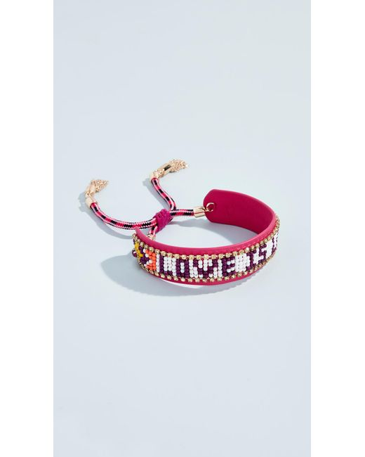 Rebecca Minkoff - Multicolor Love Is Love Seed Bead Bracelet - Lyst