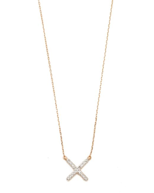 Adina Reyter - Metallic Pave X Necklace - Lyst
