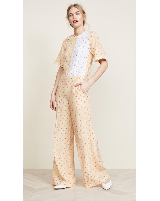 Joseph - Pink Printed Jumpsuit - Lyst