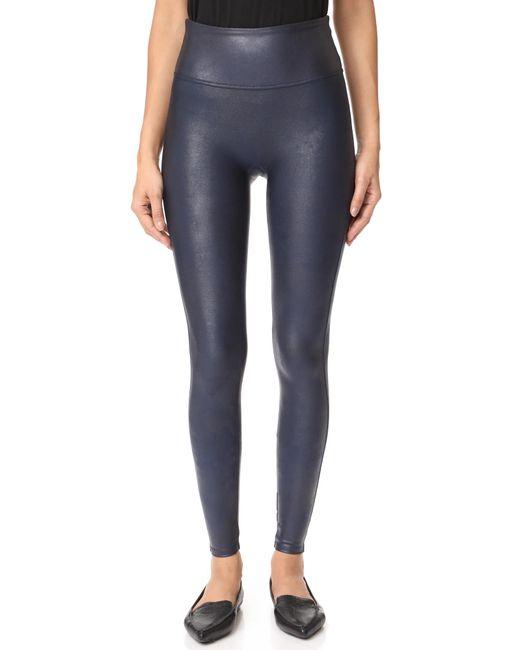 Spanx | Blue Faux Leather Leggings | Lyst