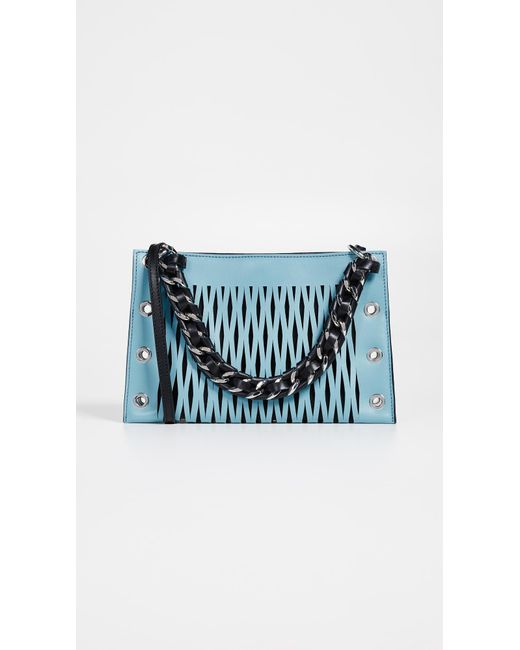 Sonia Rykiel - Blue Perforated Chain Bag - Lyst