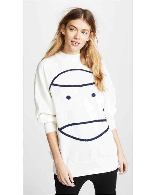 Tory Sport - White Performance Oversized Sweater - Lyst