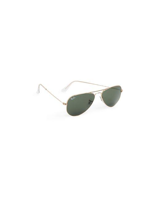 77611e6dd6 ... Ray-Ban - Green Rb3044 Classic Aviator Sunglasses - Lyst