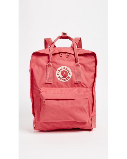 0d7f3400b Fjallraven Kanken Backpack in Pink - Save 25% - Lyst