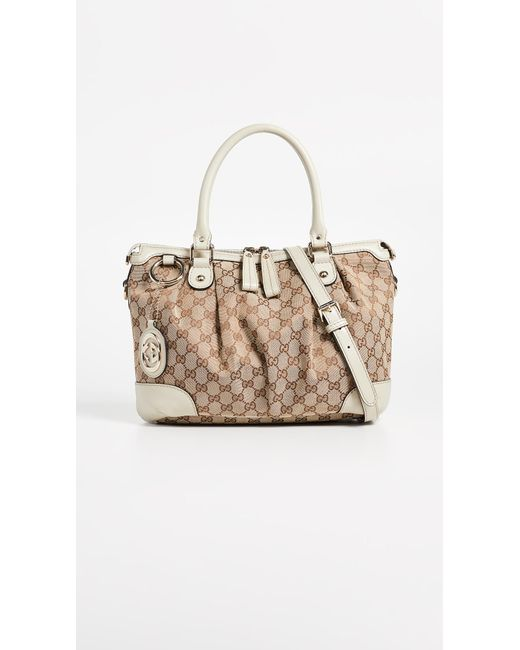 What Goes Around Comes Around - White Gucci Sukey Tote - Lyst ... c6b4bca9dda2d