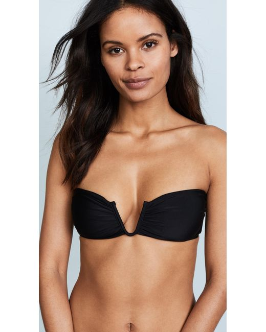 Mikoh Swimwear | Black Reunion Bikini Top | Lyst