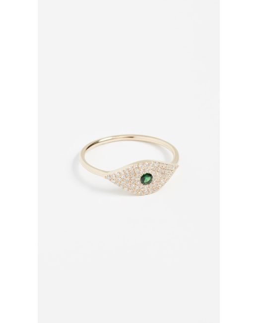 EF Collection - Metallic 14k Jumbo Evil Eye Diamond Ring - Lyst