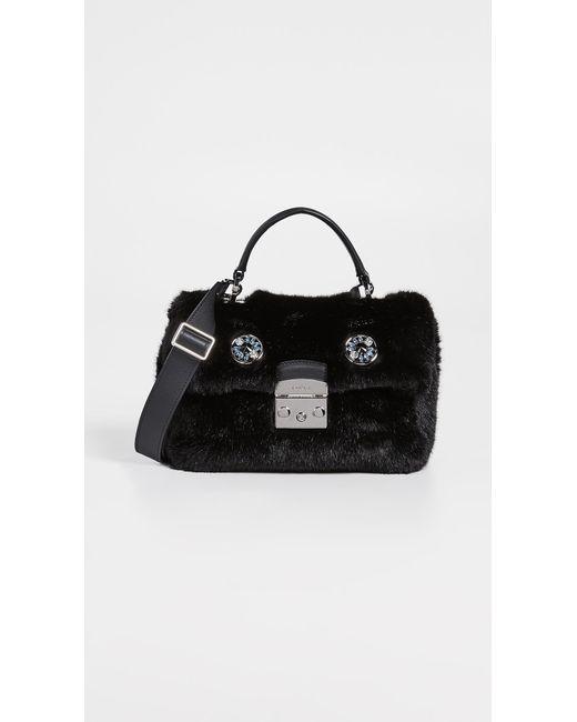 Furla - Black Metropolis Nuvola Top Handle Bag - Lyst ... 2a8bb74e6df4c