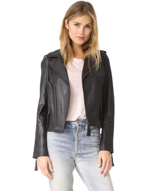 Joie | Black Ailey Leather Jacket | Lyst
