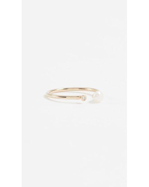 Ariel Gordon - Metallic Pearl & Diamond Ring - Lyst