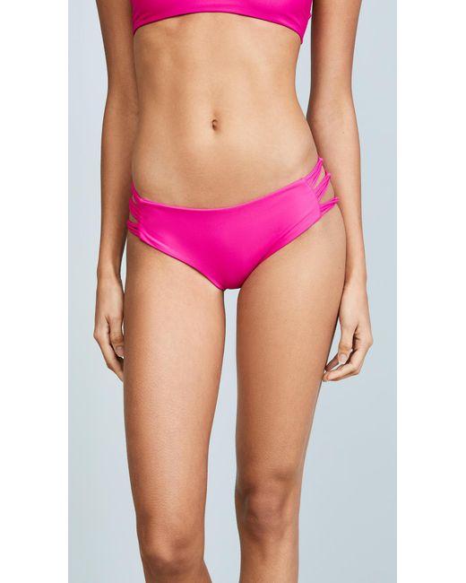 Mikoh Swimwear - Pink Barcelona Bikini Bottoms - Lyst