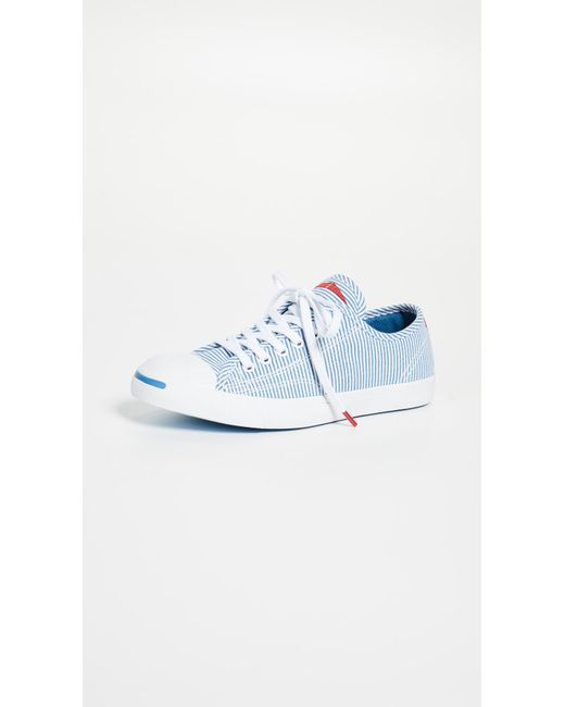 Converse - Blue Jack Purcell Striped Sneakers - Lyst