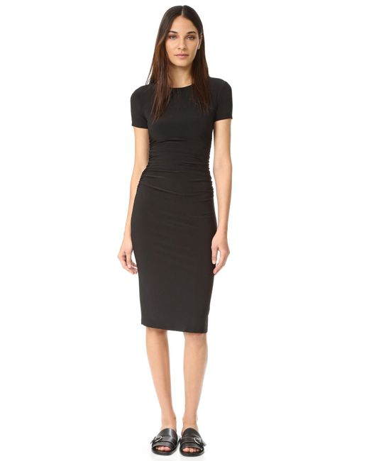 Norma Kamali | Black Kamali Kulture Shirred Dress | Lyst