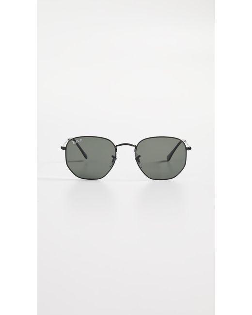 33a17fa773 Ray-Ban - Gray Rb3548n Polarized Hexagonal Sunglasses - Lyst ...