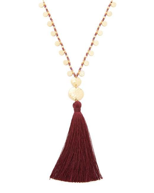 Gorjana | Multicolor Leucadia Beaded Tassel Necklace | Lyst