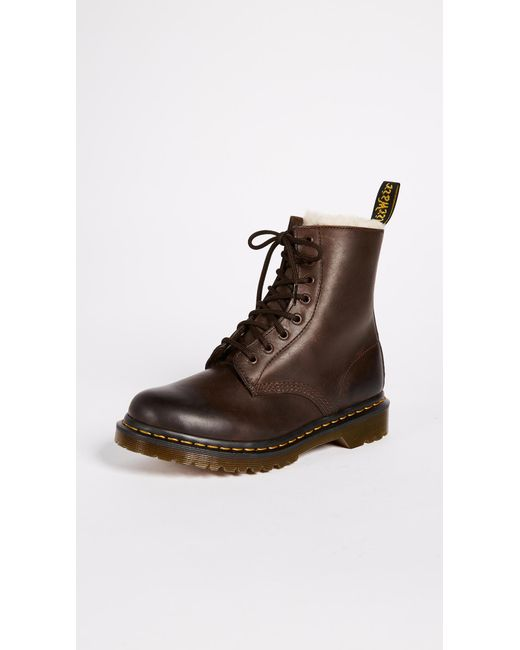 Dr. Martens - Brown Serena 8 Eye Boots - Lyst