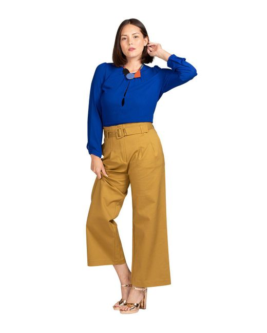 BURU White Label - Multicolor Bolu Belted Wide Leg Trousers - Lyst