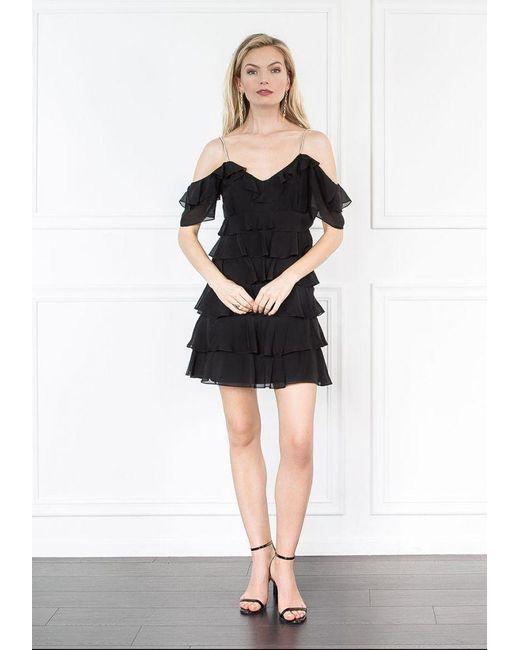 Rachel Zoe | Black Persei Silk Mini Dress | Lyst