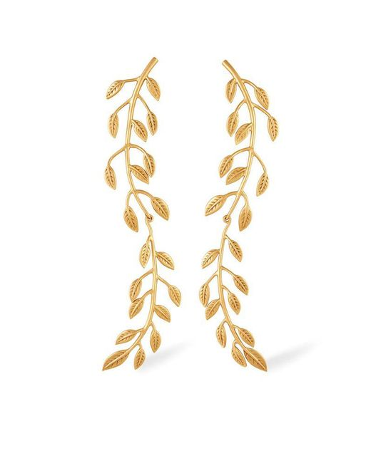Rachel Zoe - Metallic Sania Leaf Drop Earrings - Lyst