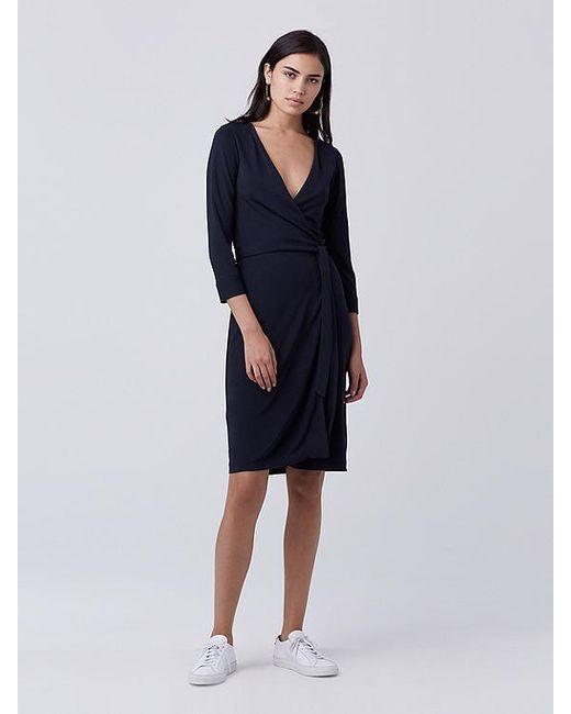 470687b19693 Diane von Furstenberg - Blue New Julian Two Wrap Dress - Midnight - Lyst ...