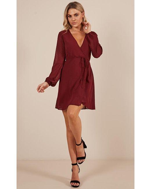 Showpo - Red Across The Atlantic Dress In Wine - Lyst