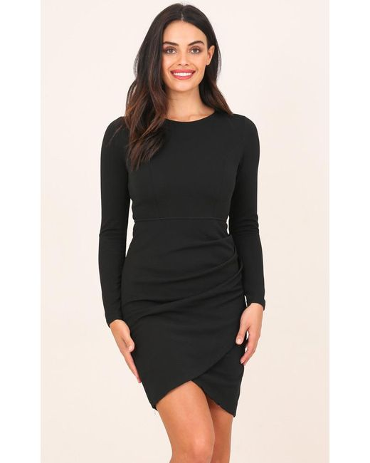 Showpo - No Rain Dress In Black - Lyst
