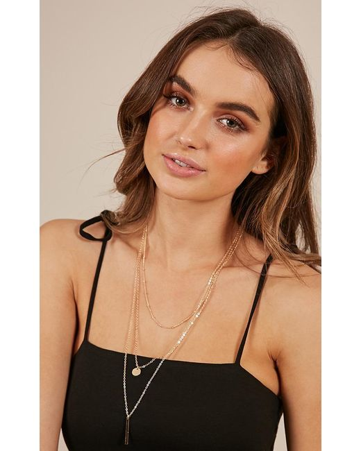 Showpo - Multicolor Where Are You Now Necklace In Gold - Lyst