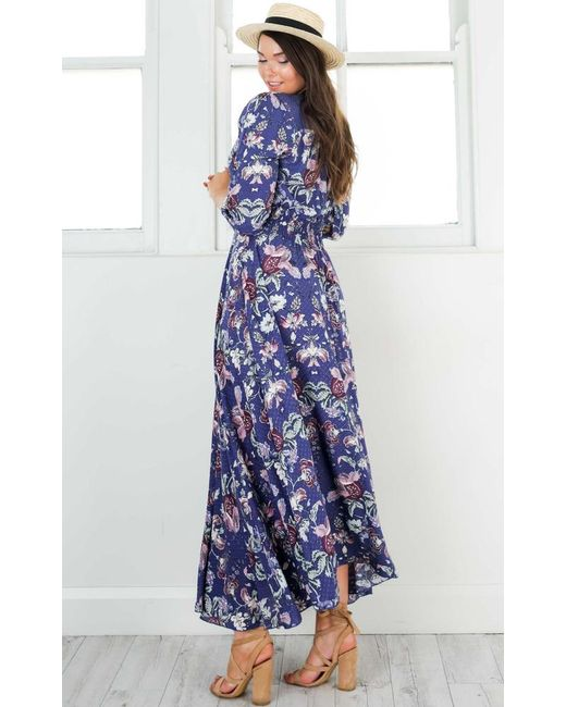 33bb76898c4 ... Showpo - Blue Lone Traveller Maxi Dress - Lyst ...