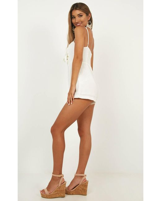 936bb484df8 ... Showpo - White Dreaming Of You Playsuit - Lyst ...
