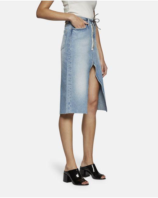aries mid denim skirt in blue lyst