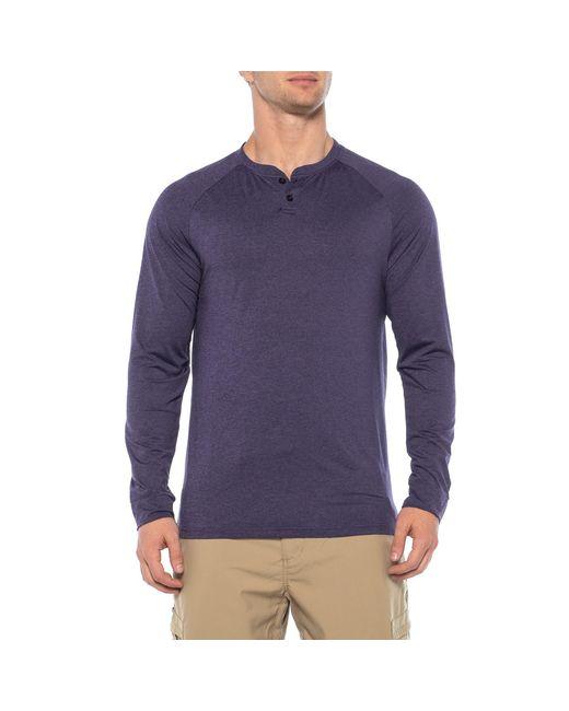 32 Degrees - Purple Techno Mesh Henley Shirt for Men - Lyst