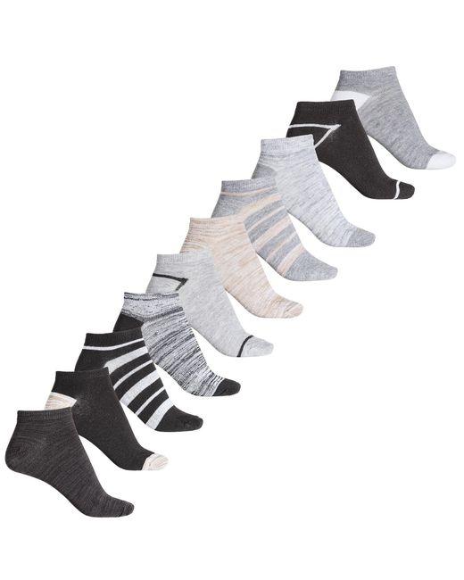 9e1536dba Lyst - Born Black Stripes And Marled No-show Socks- 10-pack