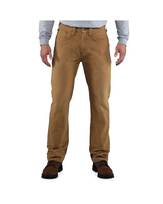 Carhartt - Brown Weathered Duck 5-pocket Pants for Men - Lyst