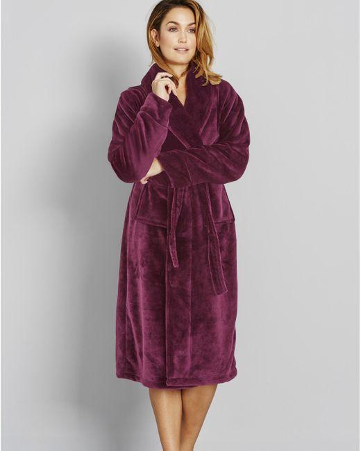 Simply Be - Red Hood Fleece Robe - Lyst