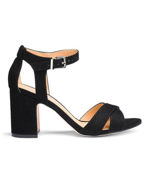 09793d04112 Simply Be - Black Helen Block Heels - Lyst ...