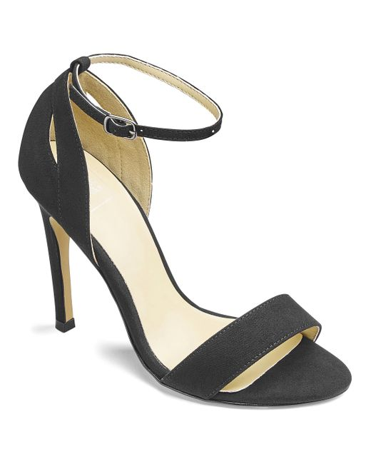 Simply Be - Black Sole Diva Single Soled Sandals - Lyst